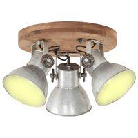 vidaXL Industriálna stropná lampa 25 W strieborná 42x27 cm E27