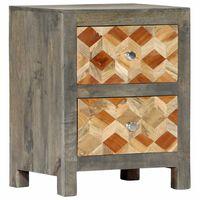 vidaXL Nočný stolík sivý 40x30x50 cm masívne mangovníkové drevo