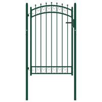 vidaXL Plotová brána s hrotmi oceľová 100x150 cm zelená