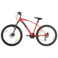 """vidaXL Horský bicykel 21 rýchlostí 29"""" koleso 58 cm rám červený"""