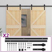 vidaXL Posuvné dvere so sadou kovania 80x210 cm masívne borovicové drevo