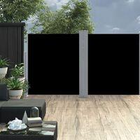 vidaXL Zaťahovacia bočná markíza, čierna 160x600 cm