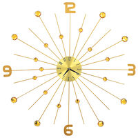 vidaXL Nástenné hodiny zlaté 70 cm kovové