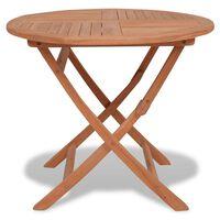 vidaXL Skladací záhradný stôl 85x76 cm, tíkový masív