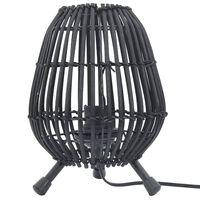 vidaXL Stolná stojanová lampa vŕba čierna 60 W 20x27 cm E27