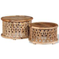 vidaXL 2-dielna sada konferenčných stolíkov, mangovníkové drevo