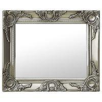 vidaXL Nástenné zrkadlo v barokovom štýle 50x40 cm strieborné