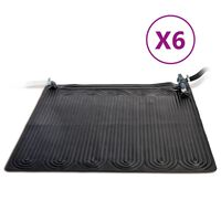 Intex Solárne kolektory 6 ks PVC 1,2x1,2 m čierne