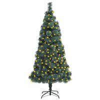 vidaXL Umelý vianočný stromček s LED zelený 120 cm PVC a PE