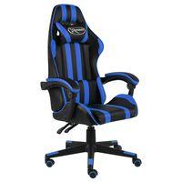 vidaXL Herná stolička čierna a modrá umelá koža