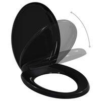 vidaXL WC sedadlo, pomalé sklápanie, rýchloupínacie, čierne
