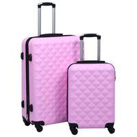 vidaXL Súprava cestovných kufrov s tvrdým krytom 2 ks ružová ABS