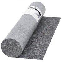 vidaXL Ochranný koberec z flícu, 50 m, 280 g/m², sivý
