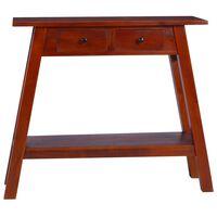 vidaXL Konzolový stolík klasický hnedý 90x30x75 cm mahagónový masív