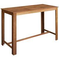 vidaXL Barový stolík, akáciový masív 150x70x105 cm