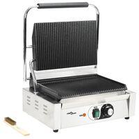 vidaXL Drážkovaný panini gril 44x41x19 cm 2200 W