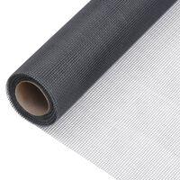 vidaXL Sieť proti hmyzu sklené vlákno 60x1000 cm sivá