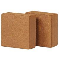 vidaXL Blok z kokosového vlákna 2 ks 5 kg 30x30x10 cm