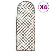 vidaXL Záhradné mriežky 6 ks 30x120 cm vŕba