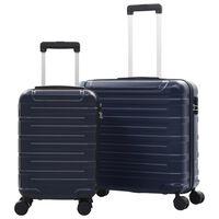 vidaXL Súprava cestovných kufrov s tvrdým krytom 2 ks námornícka ABS