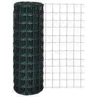 vidaXL Euro plot, oceľ 25x1,5 m, zelený