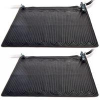 Intex Solárny kolektor do bazéna 2 ks, PVC, 1,2x1,2 m, čierny 28685