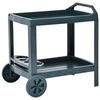 vidaXL Nápojový vozík zelený 69x53x72 cm plastový