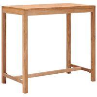 vidaXL Záhradný barový stôl 110x60x105 cm teakový masív