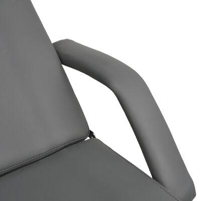 vidaXL Masážny stôl, sivý 180x62x(87-112) cm