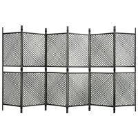 vidaXL 6-panelový paraván antracitový 360x200 cm polyratanový