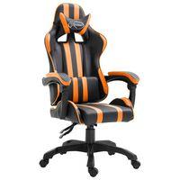 vidaXL Herná stolička, oranžová, umelá koža