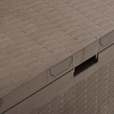 vidaXL Záhradný úložný box hnedý 114x47x60 cm