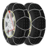 vidaXL Snehové reťaze na pneumatiky 2 ks 9 mm, KN110