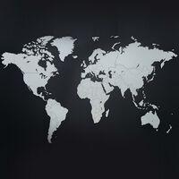 MiMi Innovations Drevená nástenná mapa sveta Luxury, biela 130x78 cm