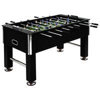vidaXL Stolný futbal, oceľ 60 kg 140x74,5x87,5 cm, čierny