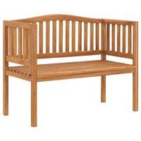 vidaXL Záhradná lavička 120 cm, tíkový masív