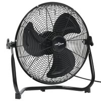 vidaXL Podlahový ventilátor 3 rýchlosti 45 cm 60 W čierny