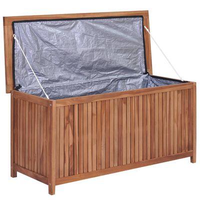 vidaXL Záhradný úložný box 120x50x58 cm, tíkový masív