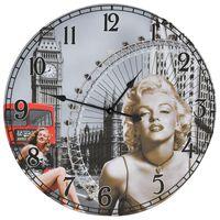 vidaXL Vintage nástenné hodiny Marilyn Monroe 60 cm