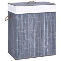 vidaXL Bambusový kôš na bielizeň, sivý 83 l