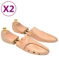 vidaXL Napínače do topánok, 2 páry, veľkosť 42-43, borovicový masív