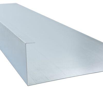 vidaXL Zábrany proti slimákom 4 ks pozinkovaná oceľ 150x7x25 cm 0,7 mm