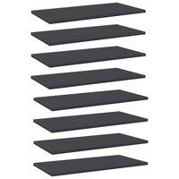 vidaXL Prídavné police 8 ks, sivé 60x30x1,5 cm, drevotrieska