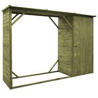 vidaXL Prístrešok na náradie a drevo, borovica 253x80x170 cm