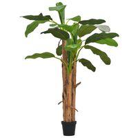 vidaXL Umelá rastlina, banánovník s kvetináčom, 250 cm, zelená