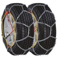 2 ks snehových reťazí na pneumatiky, 12 mm, KN 90