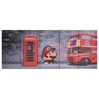 vidaXL Sada nástenných obrazov na plátne Londýn rôznofarebná 150x60 cm