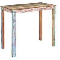 vidaXL Barový stôl, recyklovaný masív 115x60x107 cm