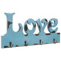 vidaXL Nástenný vešiak LOVE 50x23 cm