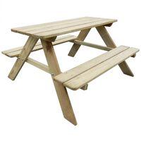 vidaXL Detský piknikový stôl 89x89,6x50,8 cm, borovicové drevo (41701)